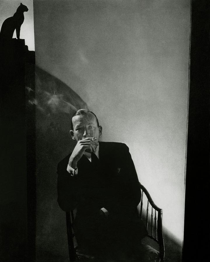 Noel Coward Smoking Photograph by Edward Steichen