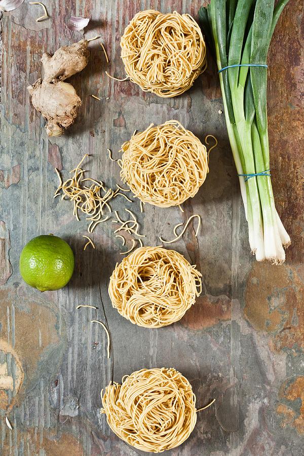 Asian Photograph - Noodles by Tom Gowanlock