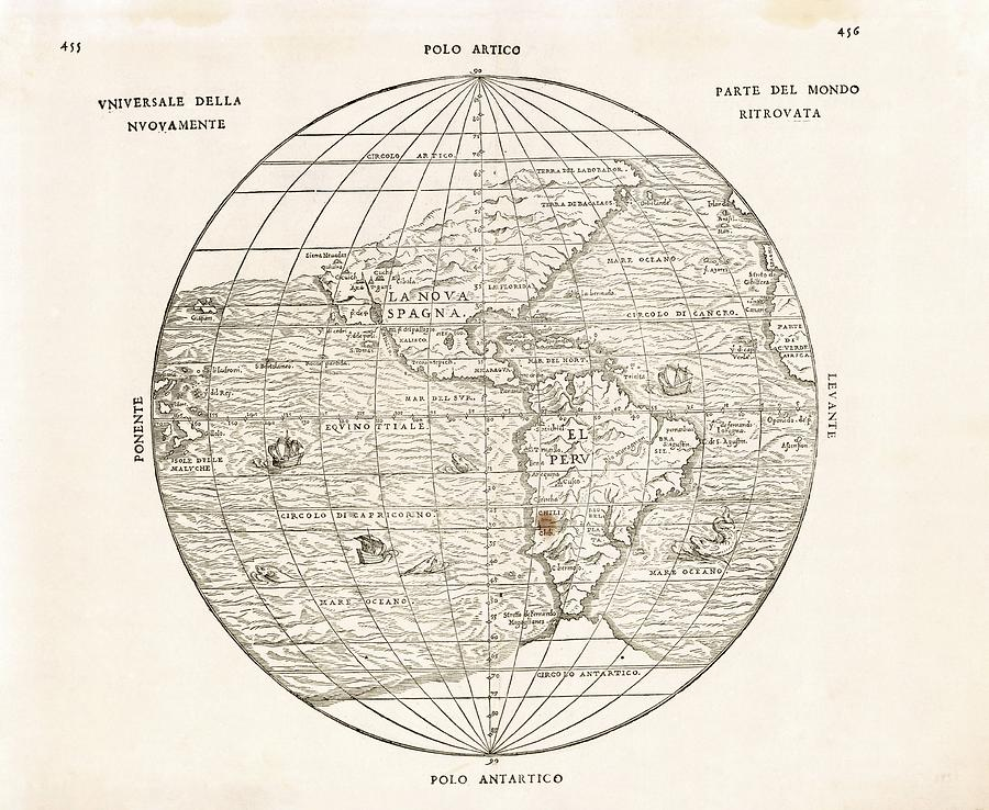 North And South America by Library Of Congress, Geography And Map  Division/science Photo Library