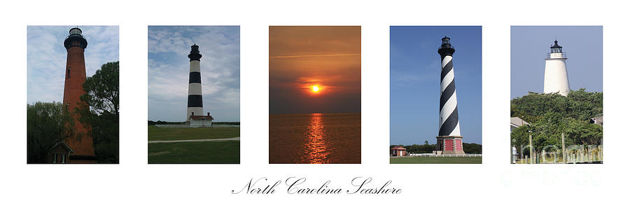 Bodie Island Photograph - North Carolina Seashore by Tony Cooper