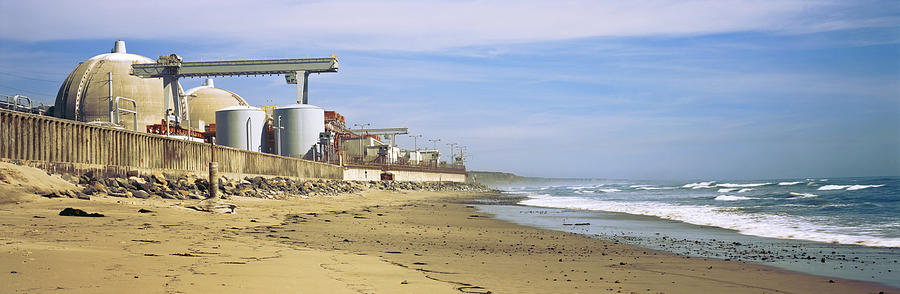 Color Image Photograph - Nuclear Power Plant On The Beach, San by Panoramic Images