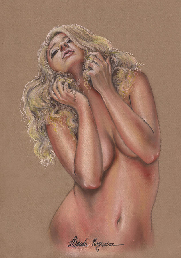 Nude Painting - Nude by Leida Nogueira