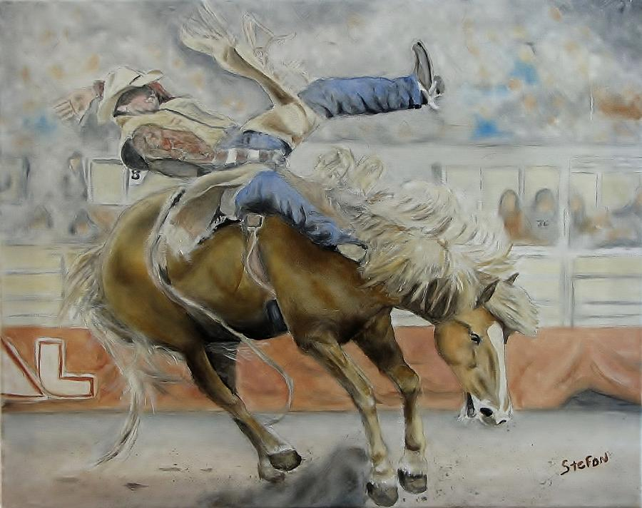 Rodeo Painting - Number Eight Up by Stefon Marc Brown