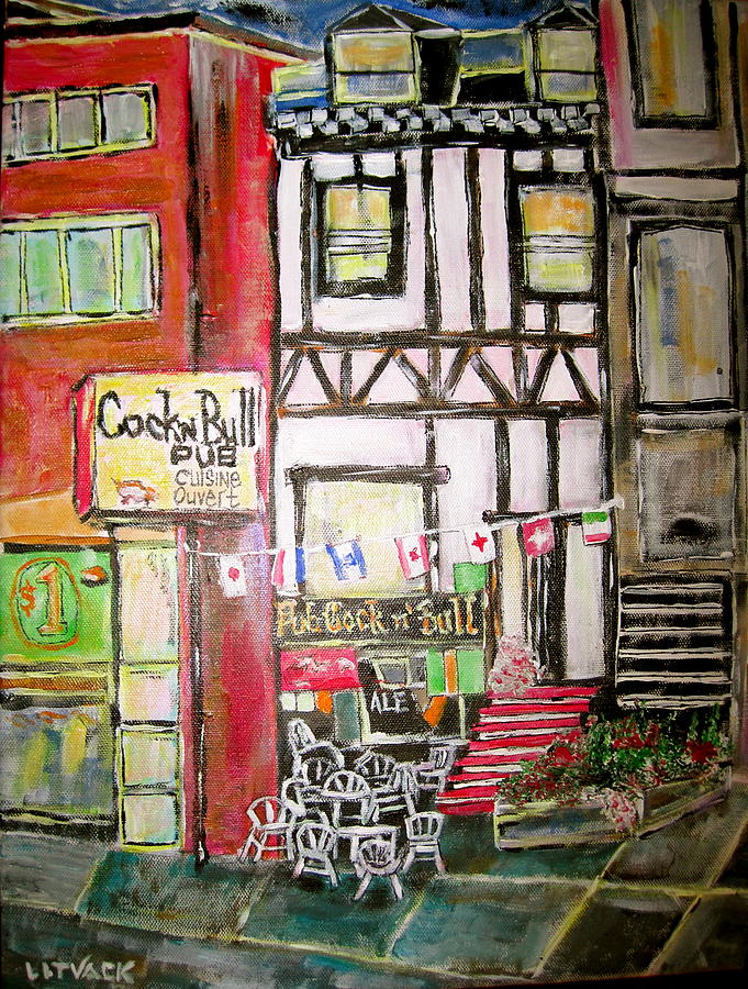 Bar Painting - Oasis In The Desert by Michael Litvack