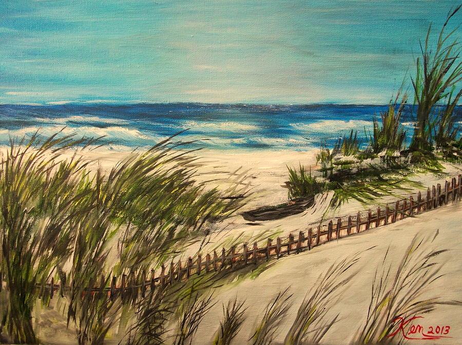 Seascape Painting - Ocean Beach by Kenneth LePoidevin