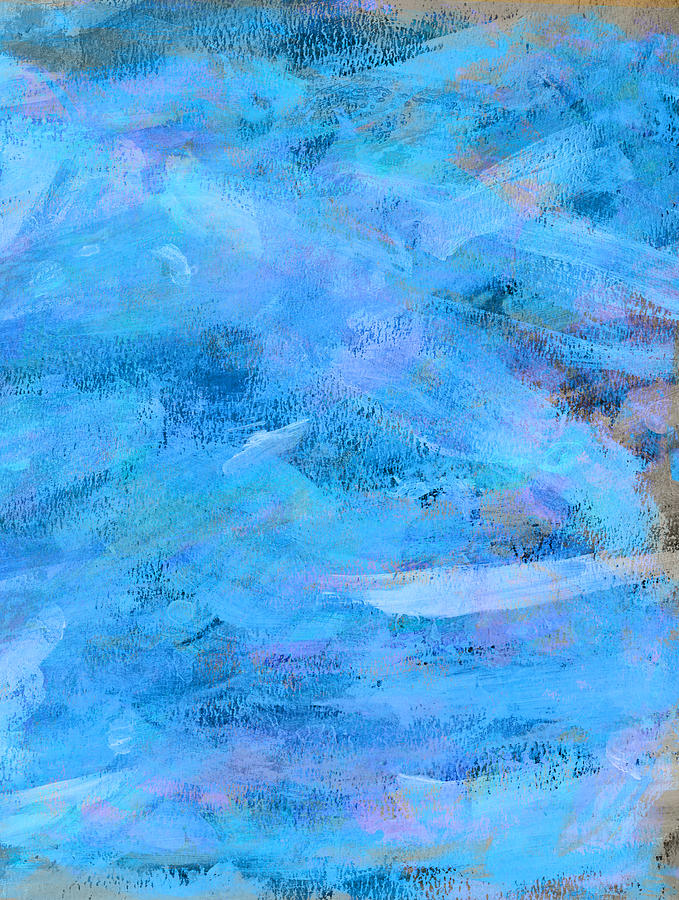 Ocean Painting - Ocean Blue Abstract by Frank Tschakert