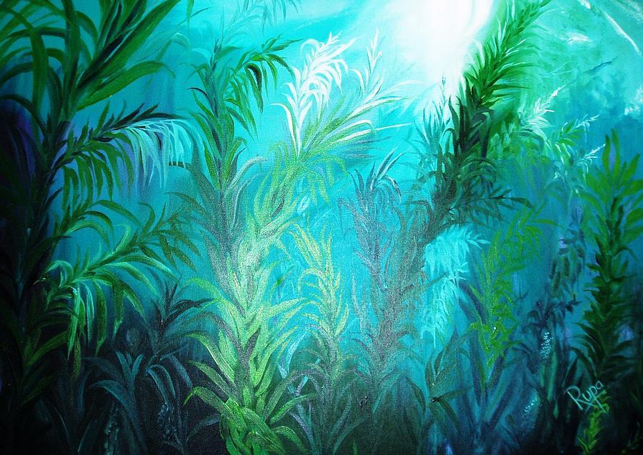 Ocean Plants Painting By Rupa Prakash