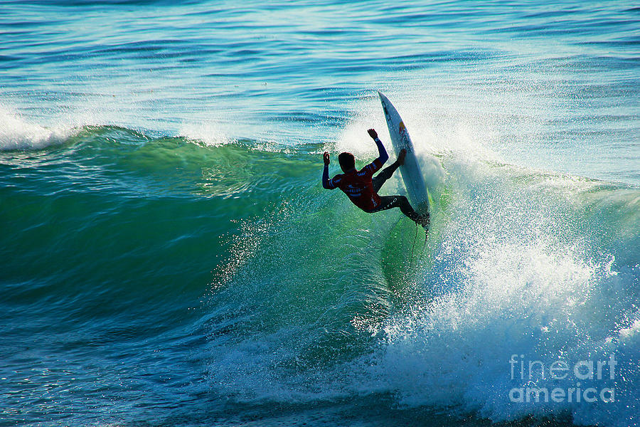 Surfing Photograph - Off The Lip by Paul Topp