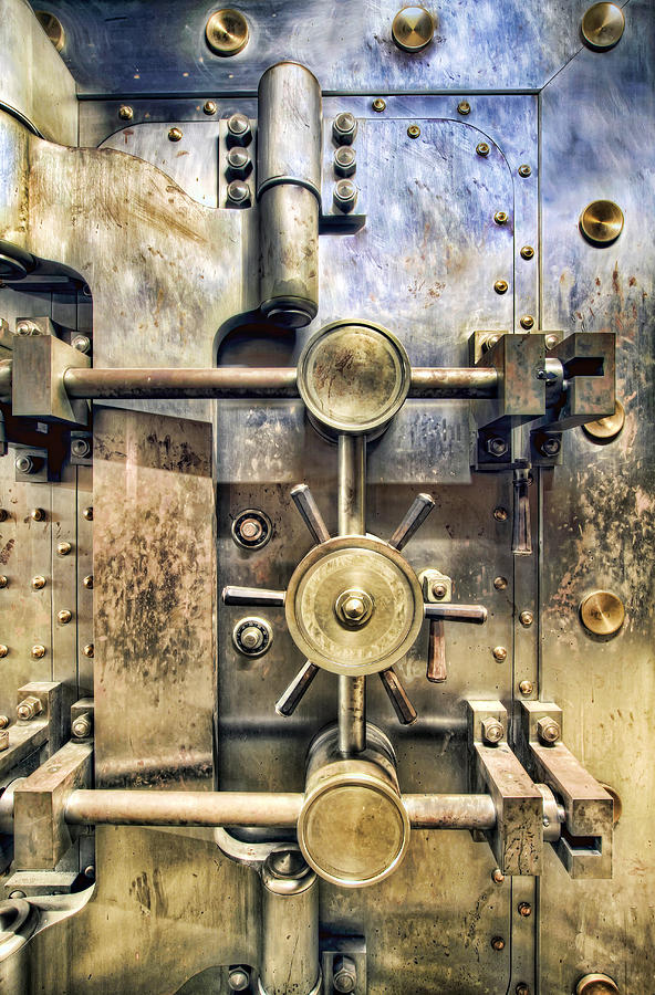 Old Photograph - Old Bank Vault In Historic Building by David Gn