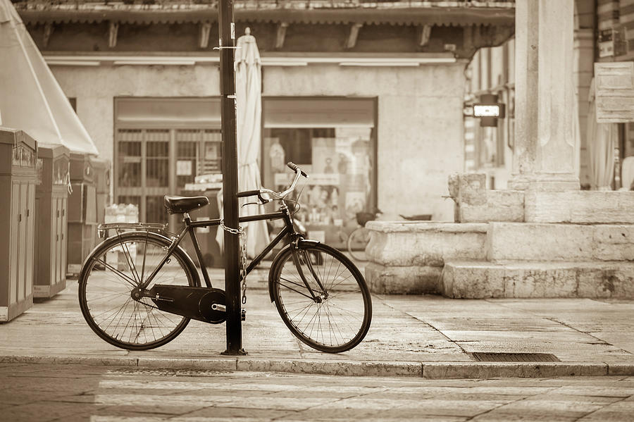 Old Bicycle Parking Photograph by Deimagine