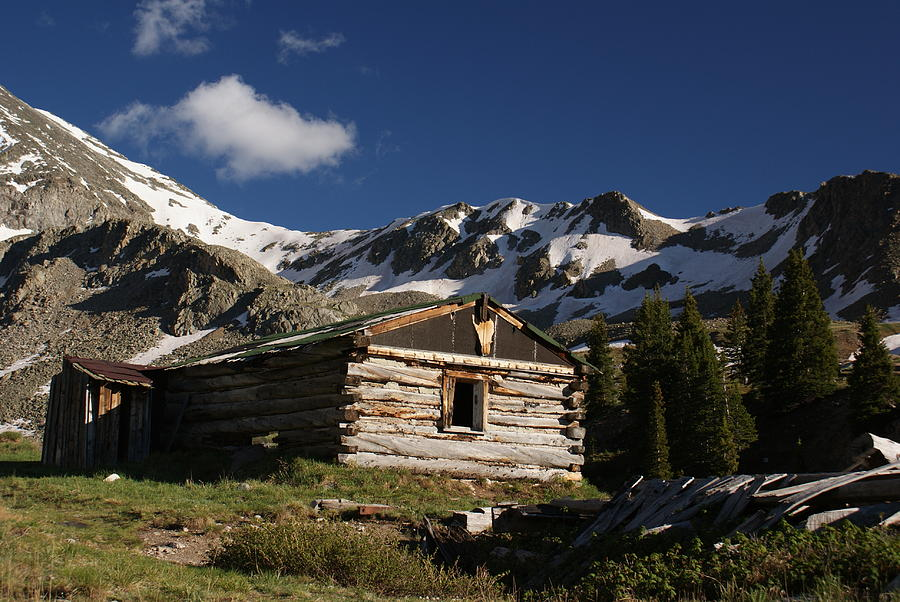 Landscape Photograph   Old Cabin In Rocky Mountains By Michael J Bauer