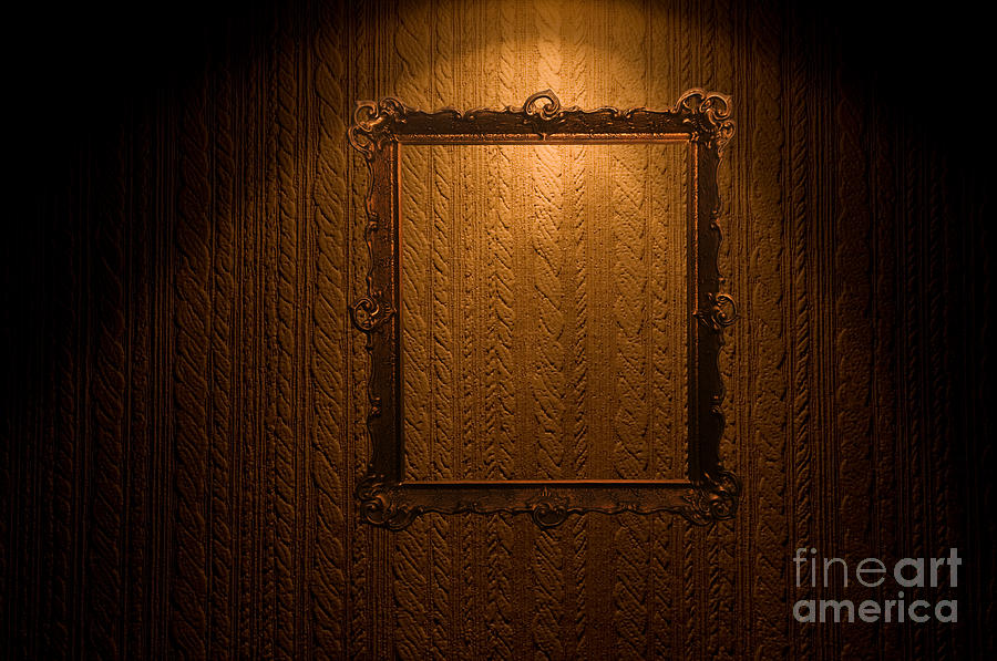 Old Frame On Retro Wall Photograph
