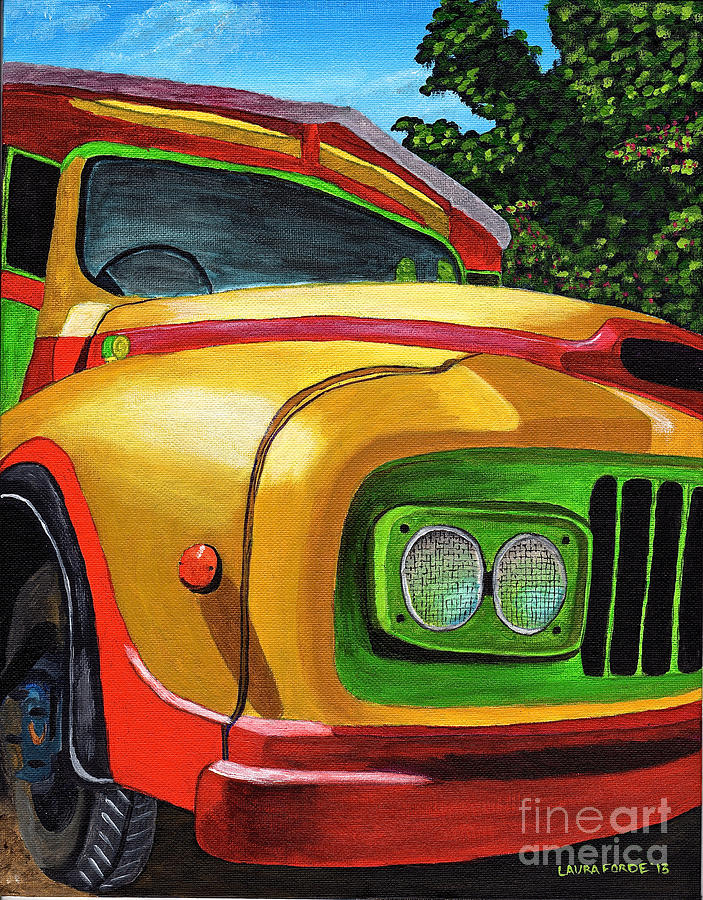 Old Grenadian Bus by Laura Forde