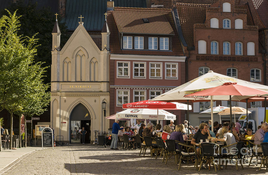 Stralsund Photograph - Old Market Square Stralsund Germany by David Davies