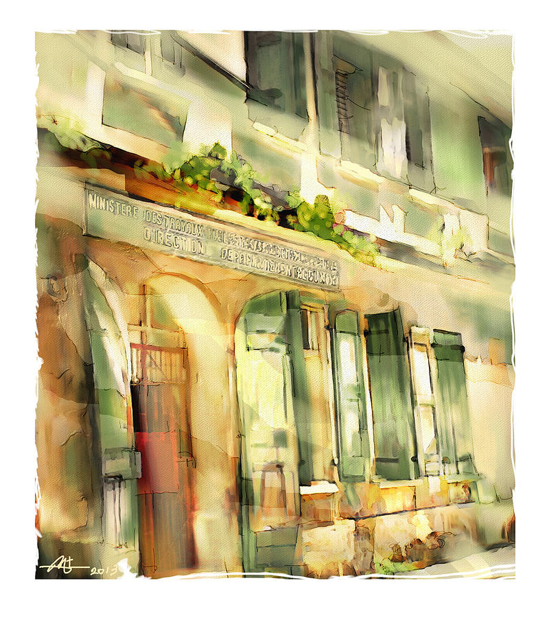 Building Painting - Old Ministry Of Transport Building / Haiti by Bob Salo