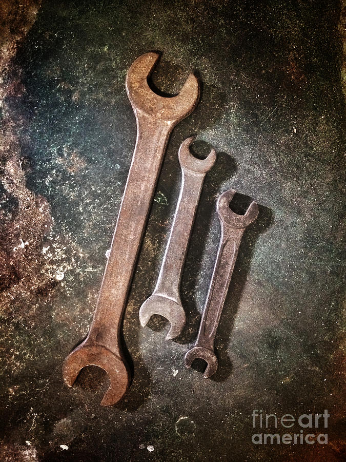 Spanner Photograph - Old Spanners by Carlos Caetano