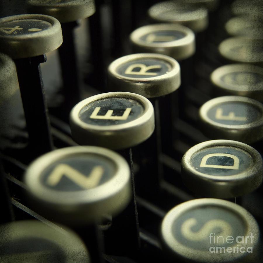 Cut Out Photograph - Old Typewrater by Bernard Jaubert