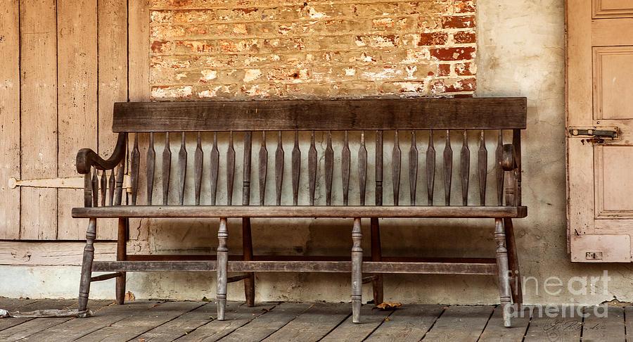 Old Wood Bench Photograph