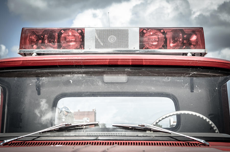Red Photograph - Ole Time Fire Truck Series by Kelly Kitchens