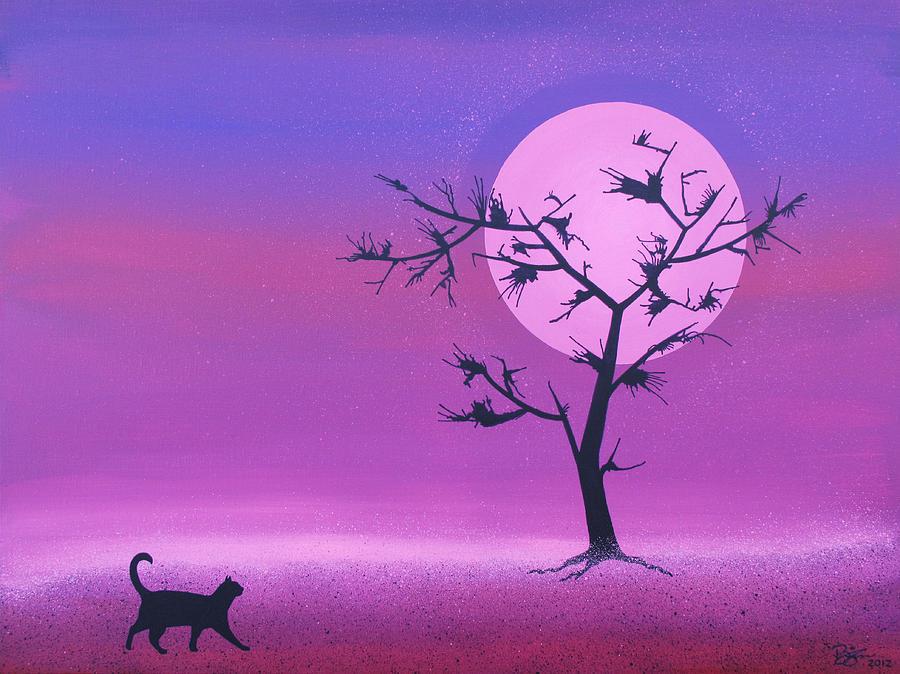 Cat Painting - Omen by Lance Bifoss