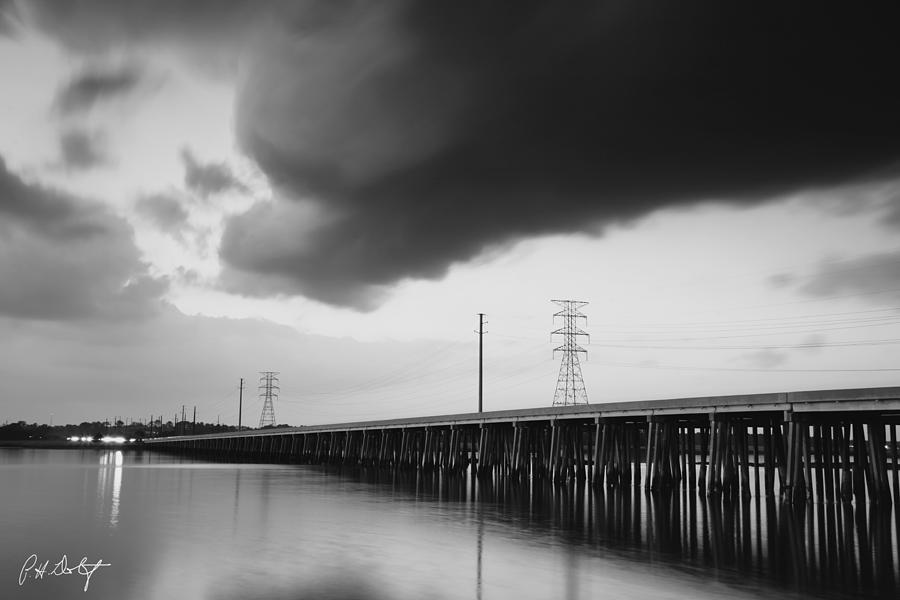 Black & White Digital Art - Ominous Cloud by Phill Doherty