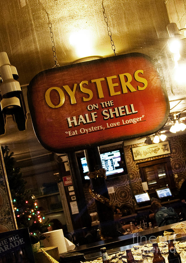 Oysters Photograph - On The Half Shell by Scott Pellegrin