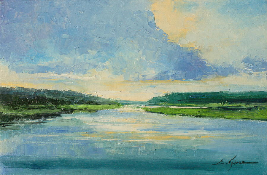 River Painting - On The River by Luke Karcz