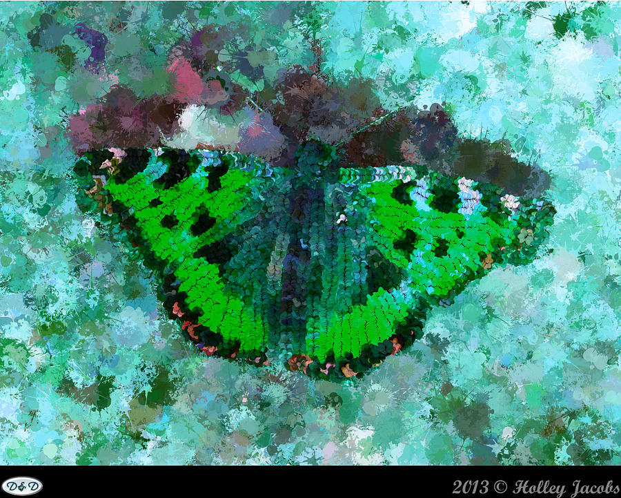 Abstract Digital Art - On The Rocks Teal by Holley Jacobs
