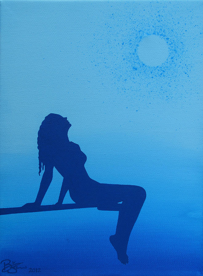 Girl Painting - Once In A Blue Moon by Lance Bifoss