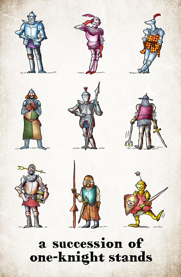 Knight Digital Art - One Knight Stands by Mark Armstrong