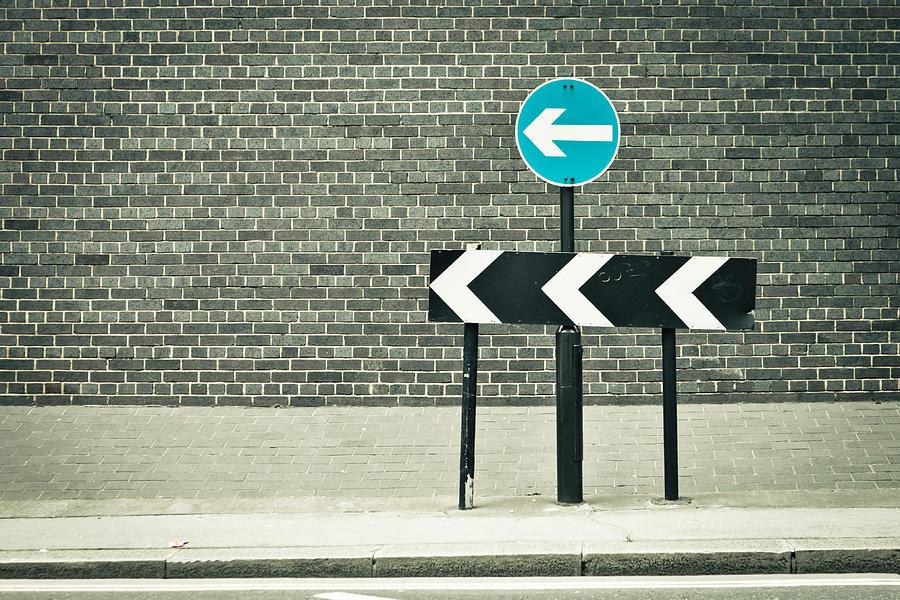 Arrow Photograph - One Way by Tom Gowanlock