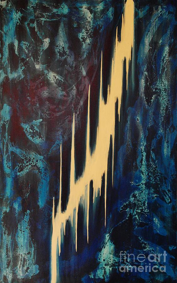 Abstract Painting - Only One Way by Wayne Cantrell