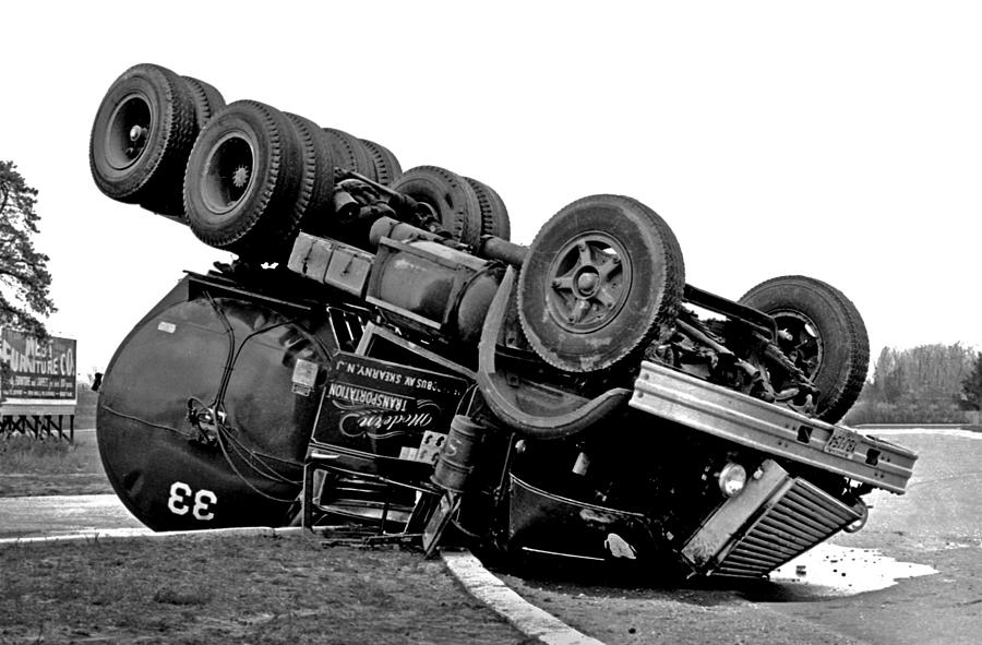 Accident Photograph - Oops by Mike Flynn