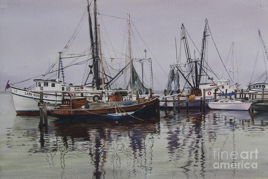Sailboats Painting - Opacity by Karol Wyckoff