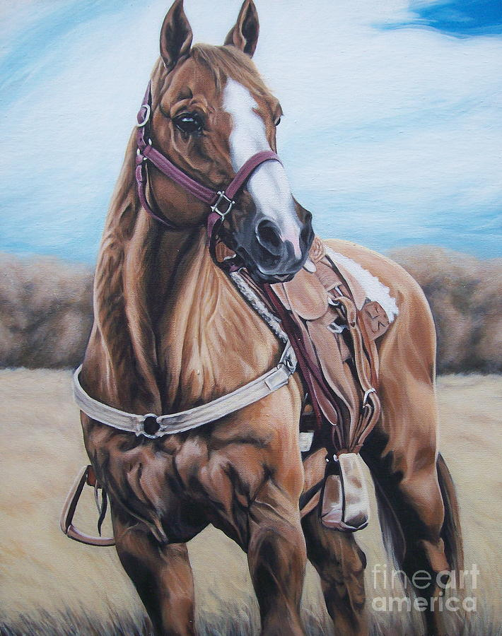 Horse Painting - Opal Bugs by Ann Holder