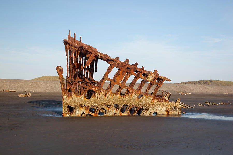 Beach Photograph - Or, Fort Stevens State Park, Wreck by Jamie and Judy Wild