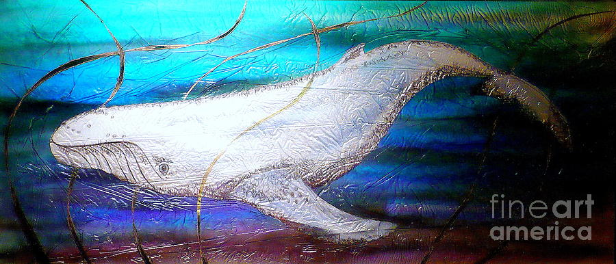 Whales Painting - Orca  by Rick Silas