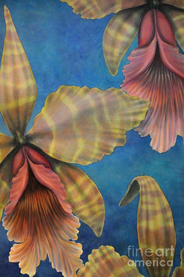 Orchids Painting by J Barth