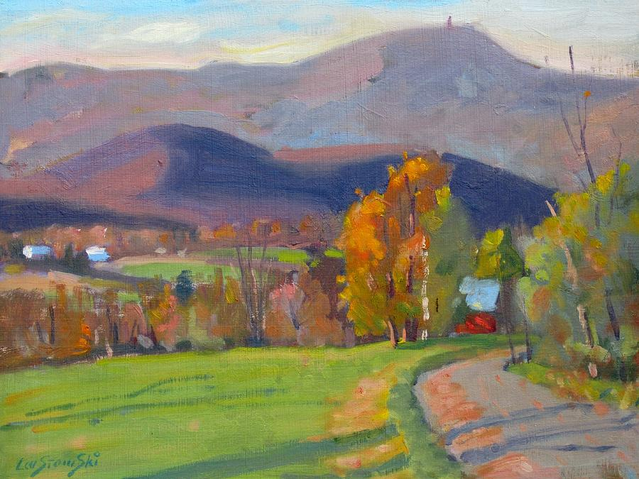 Berkshire Hills Paintings Paintings Painting - Out Back by Len Stomski