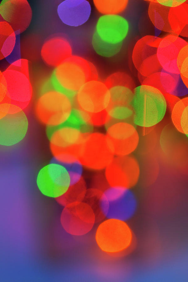 Out Of Focus Christmas Lights Photograph by Diane Macdonald