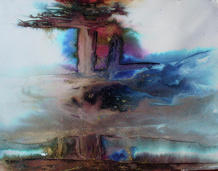 Lyrical Abstraction Painting - Out Of The Mist by Mary Sullivan