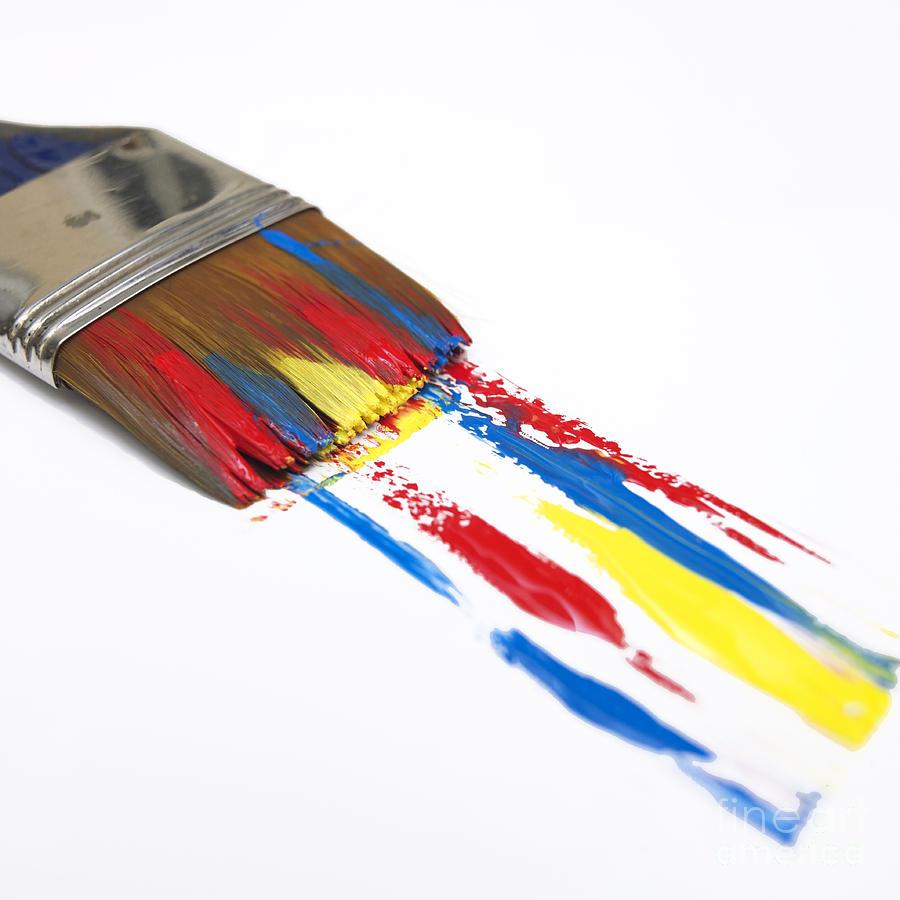 Indoors Photograph - Paintbrush by Bernard Jaubert