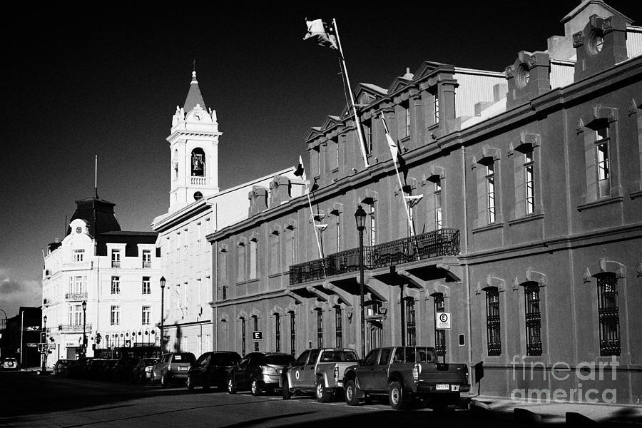 Palacio Photograph - palacio de la gobernacion provincial government building Punta Arenas Chile by Joe Fox