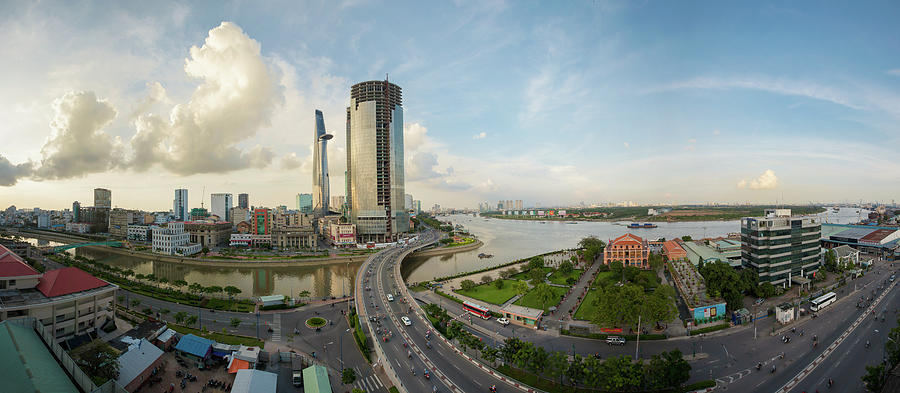 Panorama Ho Chi Minh City Photograph by Jethuynh