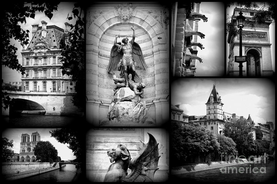 Paris photograph paris collage black and white by carol groenen