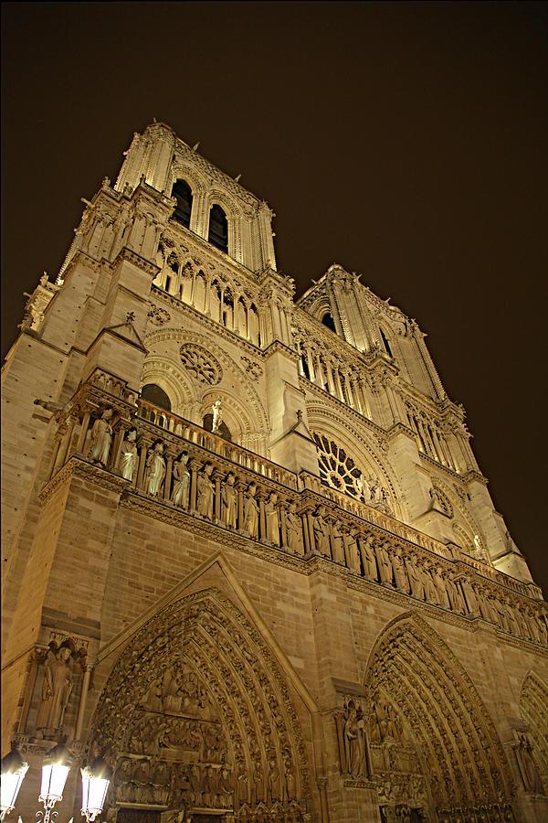 Aged Photograph - Paris France - Notre Dame De Paris - 011311 by DC Photographer