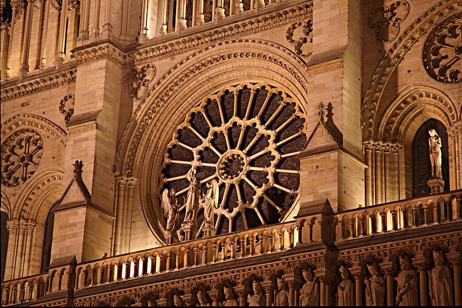 Aged Photograph - Paris France - Notre Dame De Paris - 01134 by DC Photographer