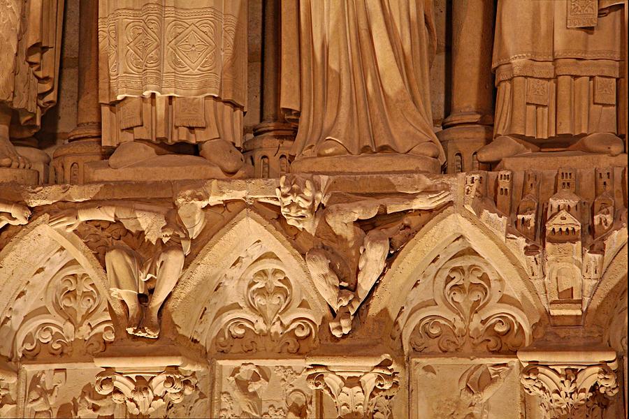 Aged Photograph - Paris France - Notre Dame De Paris - 01137 by DC Photographer