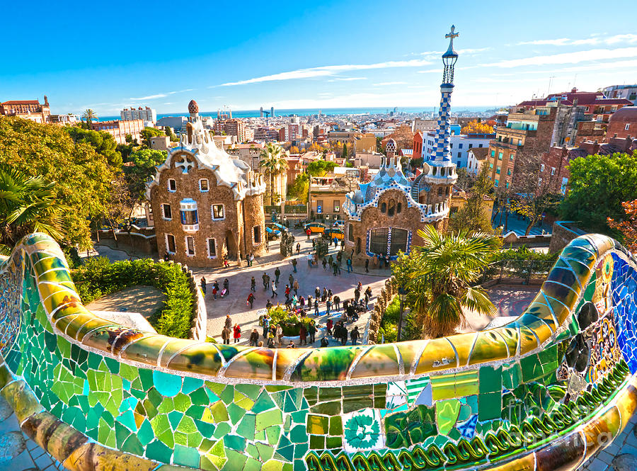 Park guell barcelona photograph by luciano mortula for Hotel jardin barcelona