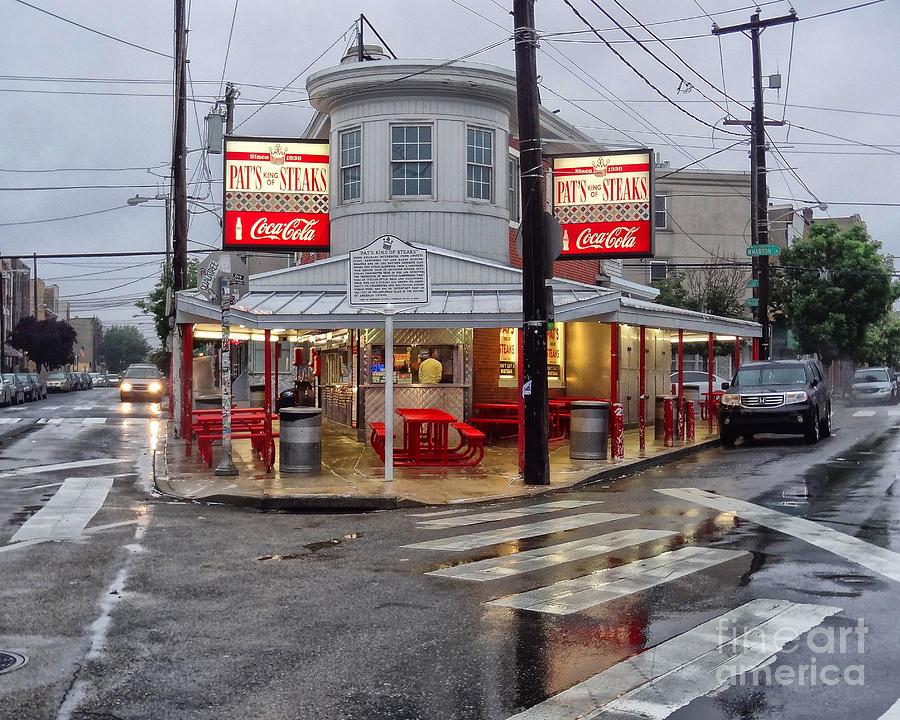 Philadelphia Italian Market Photograph - Pats Steaks by Jack Paolini